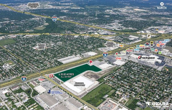 21-Acres-I-35-at-Eisenhauer-Rd-Aerial-View
